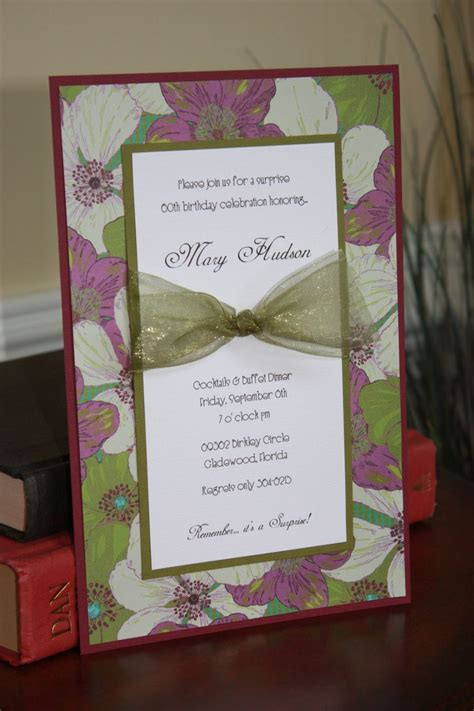 Handmade Birthday Invitations - 27 best images about anniversary invitations on