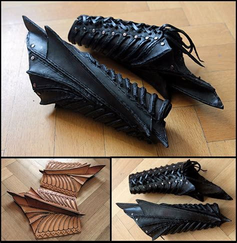 Pattern Black Chitin Bracers | black bracers a little bit dark by turiel eressiel on