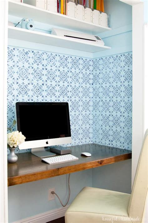 Closet Desk Plans by How To Build A Desk In A Closet A Houseful Of Handmade