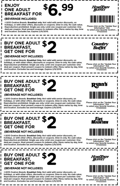 hometown buffet coupons second breakfast 2 more at