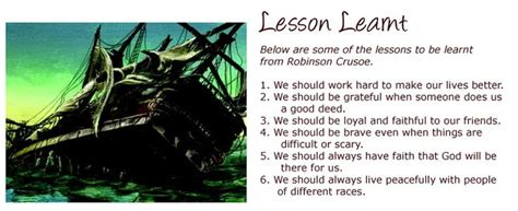 book report on robinson crusoe essay on a difficult lesson learnt