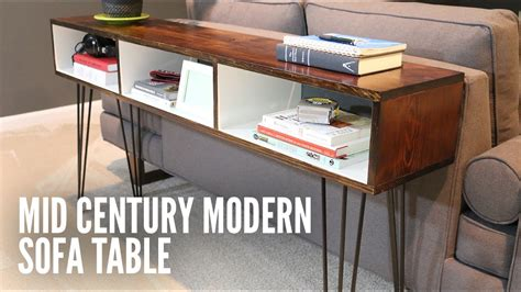 mid century modern sofa table build a mid century modern sofa table