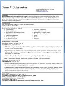 dental assistant resume template resume downloads
