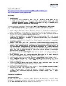 system administrator resume 1