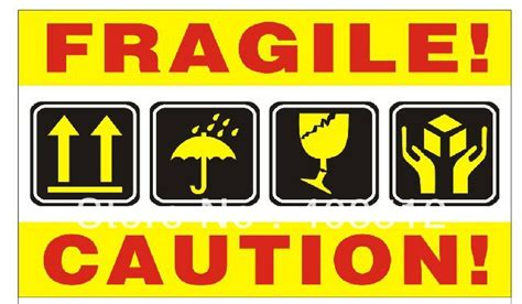 Fragile Zerbrechlich Aufkleber by Aliexpress Buy Sell Stock 100pcs Lot Fragile Caution