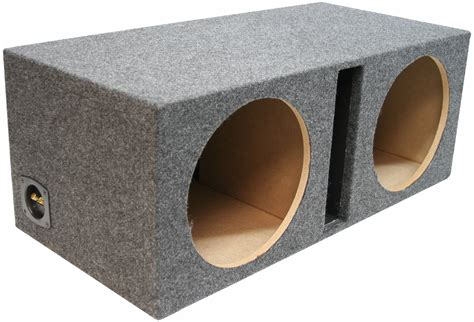 12 inch bass speaker cabinet car audio dual 10 ported 3 4 mdf subwoofer enclosure bass