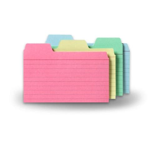 index card dividers template 17 215 11 white 6 tabbed dividers with no holes 48 per