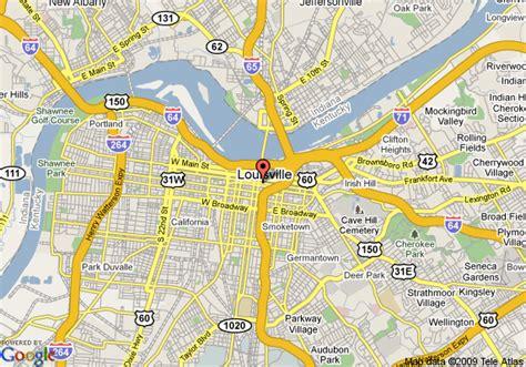ky map downtown map of hton inn louisville downtown ky louisville