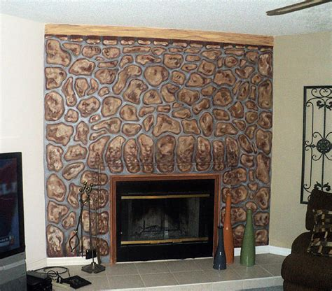 Fireplace Mural by Fireplace Mural Painting By Mike Miller
