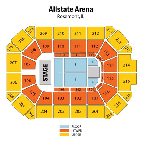 allstate arena seating chart usher may 20 tickets rosemont allstate arena usher