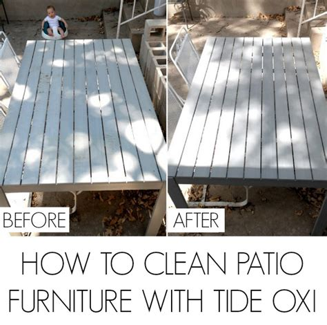 How To Clean Patio by How To Clean Patio Furniture With Tide Oxi C R A F T