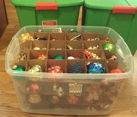 best way to store christmas ornaments household