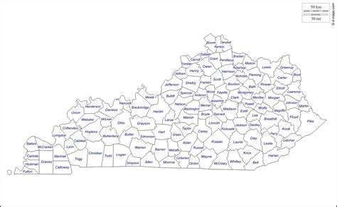 kentucky map county names kentucky free map free blank map free outline map free