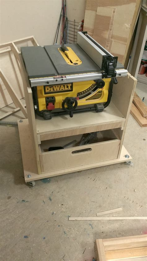 wood table saw stand mobile stand for my table saw