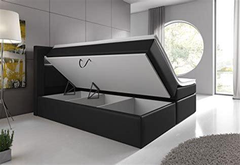 bett mit unterkasten boxspringbett 140x200 schwarz mit bettkasten led kopflicht
