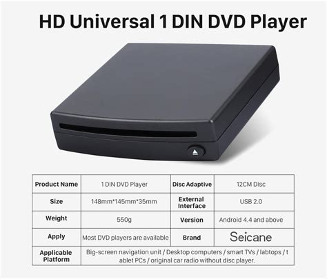 gängigstes format für dvd player universal external android touch screen car dvd player