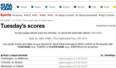 usa today sports section is text messaging a viable media and advertising platform