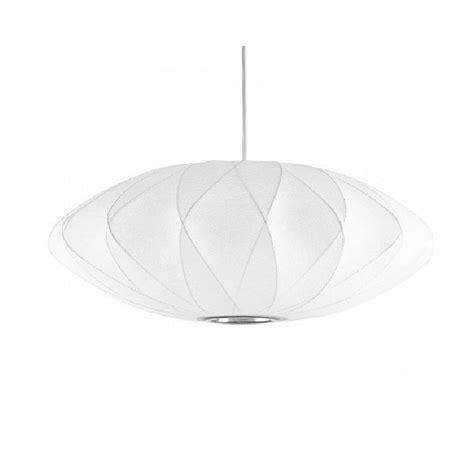 modern silk shade pendant lighting george nelson 9609