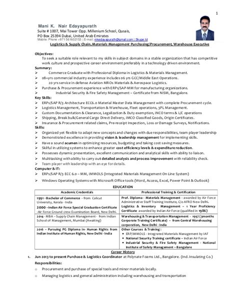 free sle resume for supply chain management scm resume format resume template easy http www
