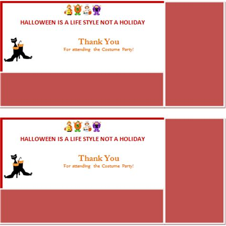 ms word halloween   card template word excel