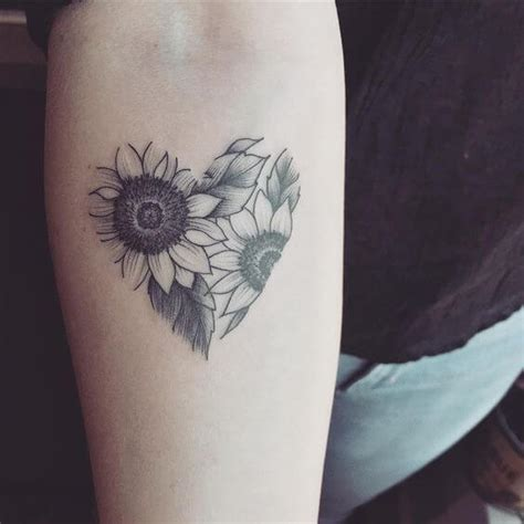 sunflower tattoos  women ideas  designs  girls