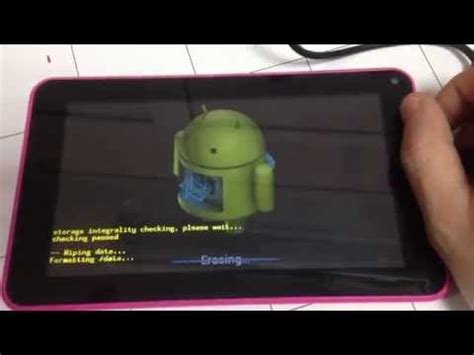 reset android tablet no volume button factory reset on proscan plt7223g or tablet w o vol rocker