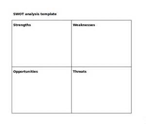 Swot Analysis Templates Word by Doc 18683123 Word Swot Template 40 Free Swot Analysis