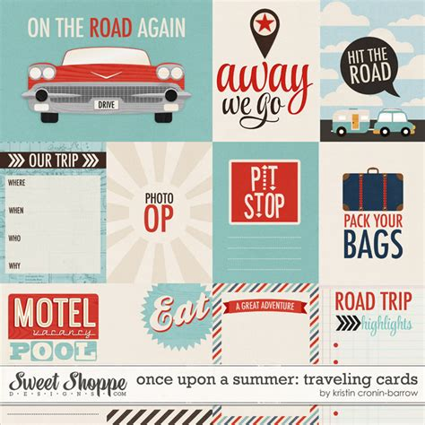 printable travel journal cards sweet shoppe designs making your memories sweeter