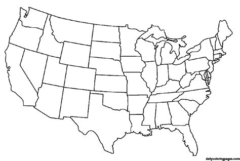 printable us map large map of the united states coloring page united states map