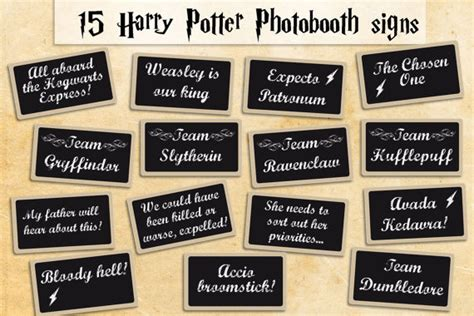 printable harry potter photo booth props printable harry potter photobooth props instant download