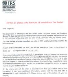 debt relief irs debt relief letter