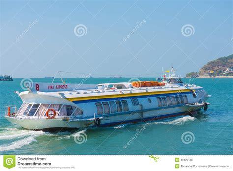 hydrofoil boat vung tau hydrofoil from vungtau to saigon editorial stock photo