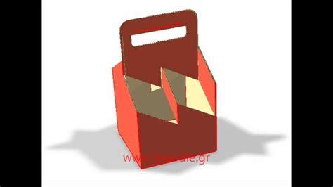 4 pack bottle carrier template 4 6 pack cardboard bottle carriers 3d θήκη μεταφοράς