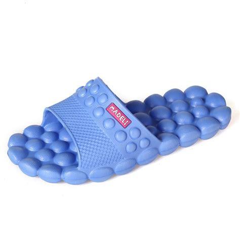 men s bathroom slippers new women men bubble massage slippers sandal beach flip