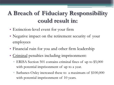 Civil Section 502 A Of Erisa by Njscpa 2011 Fiduciary Responsibilities And Risk