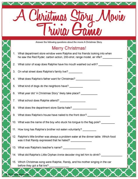 printable xmas movie quiz a christmas story movie trivia christmas pinterest