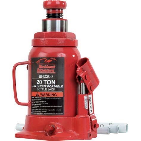20 ton bottle blackhawk automotive heavy duty 20 ton hydraulic bottle model bh2200 northern tool