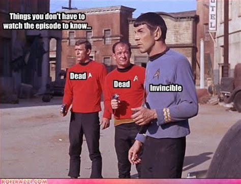 Star Trek Red Shirt Meme - 17 best ideas about star trek humor on pinterest star
