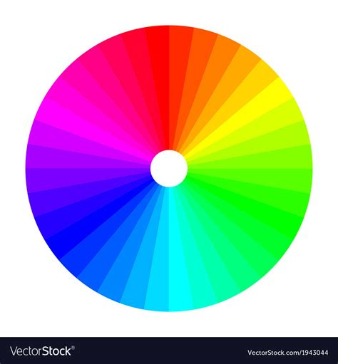picture of color wheel color wheel with shade of colors colour spectrum vector image