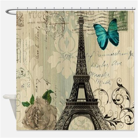 Parisian Shower Curtains Parisian Fabric Shower Curtain