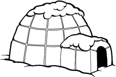 Coloring Page Igloo by Free Coloring Pages Of Pictures Of Igloos