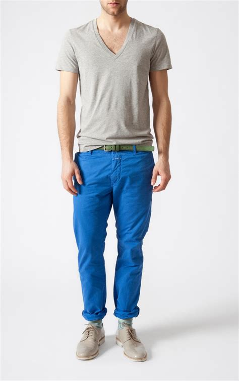 Light Blue Chinos by Mantomeasure What To Wear With Light Blue Chinos