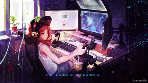 imagenes anime gamer wallpaper anime gamer hd by deadkw on deviantart