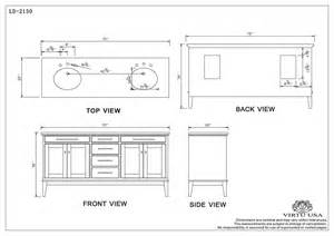 Bathroom Vanities Dimensions Virtu Usa Battista Sink Bathroom Vanity Ld 2130