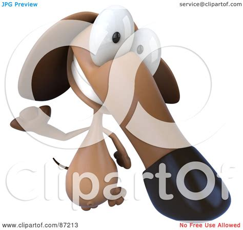 pookie doodle puppy sings his song royalty free rf clipart illustration of a 3d brown