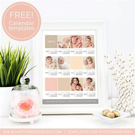 digital calendar template 20 best free templates for photographers images on