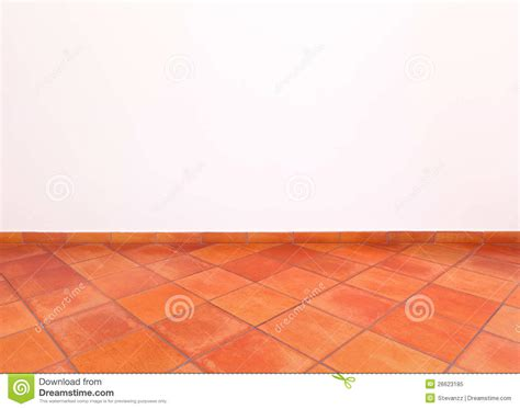 Classic Home Floor Plans Tuscan Old Grunge Floor Red Tiles And Wall Stock Image