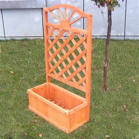 Lattice Garden Planter by Greenfingers Fsc Wooden Fir Garden Rectangular
