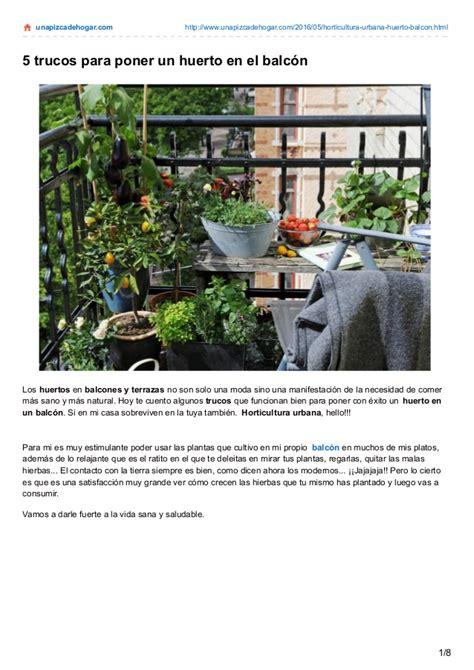 horticultura urbana huerto balcon 5 trucos para poner un huerto en el balc 243 n