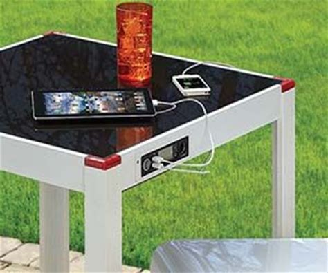 patio solar panels solar panel charging table sun patio and glasses